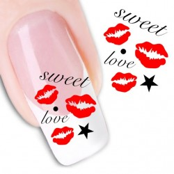 Pegatina nails Nº 21 Beso Love