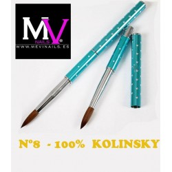 Pincel 100 % Kolinsky Profesional nº8 Mevinails
