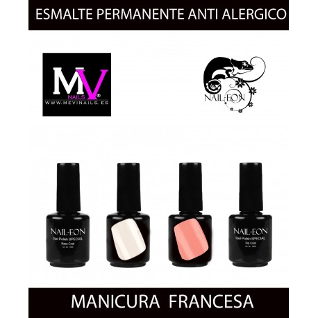 Kit Manicura Francesa Nail Eon Sin acidos