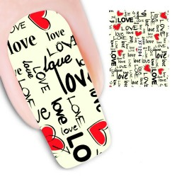 Pegatina nails Nº7 I love you
