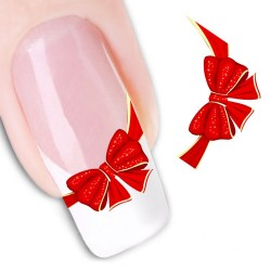 Pegatina nails Lazo rojo