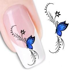 Pegatina nails Tribal con Mariposa de venta en mevinails