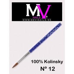 Pincel nº12 - 100% Kolinsky Acrílico Profesional Mevinails