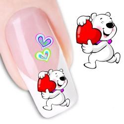 Pegatina nails Nº 18 Osito Love