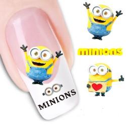 Pegatina nails Nº 23 Los Minions