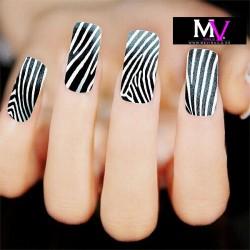 Pegatina nails Nº 24 Cebra