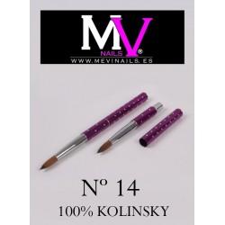 Pincel nº14 - 100% Kolinsky Acrílico Profesional Mevinails