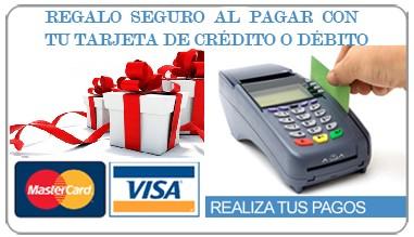 Regalo seguro al pagar con tu tarjeta de crédito o débito